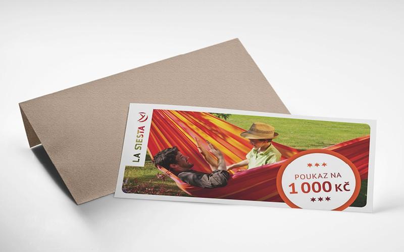 Dárkový poukaz LA SIESTA v hodnotě 1.000 Kč