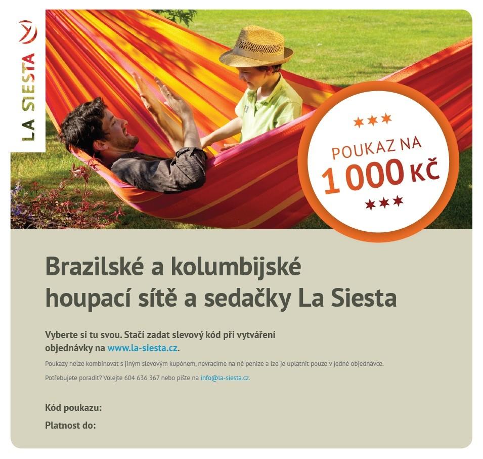Elektronický poukaz LA SIESTA v hodnotě 1.000 Kč