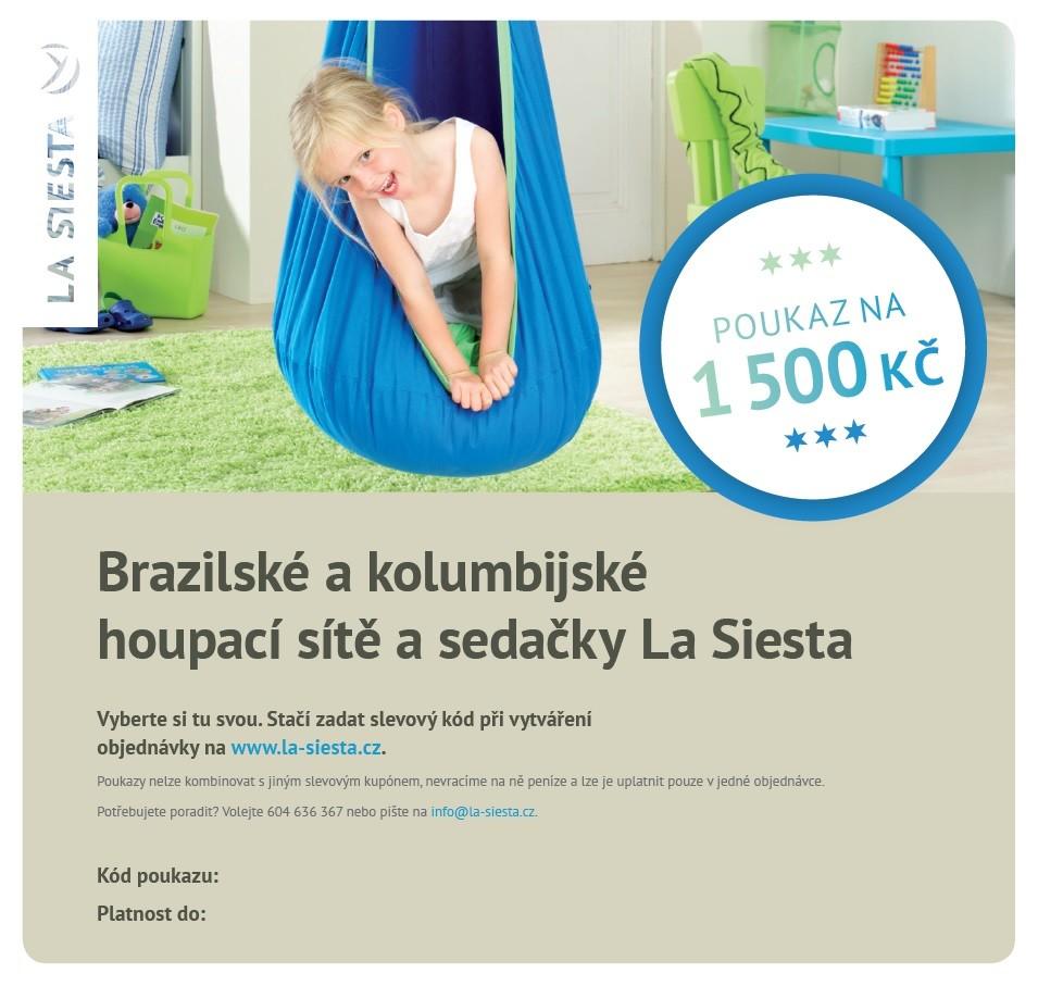 Elektronický poukaz LA SIESTA v hodnotě 1.500 Kč