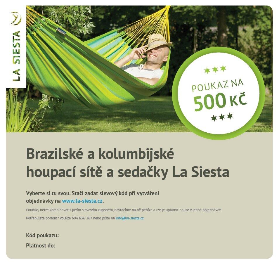 Elektronický poukaz LA SIESTA v hodnotě 500 Kč