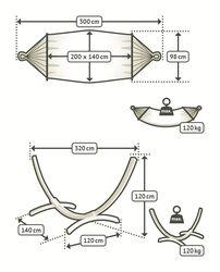 Houpací síť s dřevěným stojanem CHILLOUNGE®