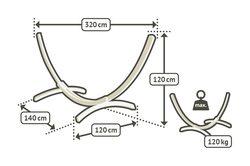 Stojan na houpací síť La Siesta Elipso do 120kg