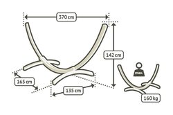 Stojan na houpací síť La Siesta Elipso do 160kg