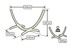 Stojan na houpací síť La Siesta Elipso do 200kg