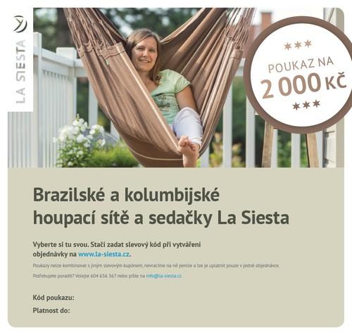 Elektronický poukaz LA SIESTA v hodnotě 2.000 Kč
