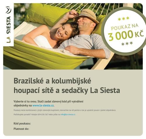 Elektronický poukaz LA SIESTA v hodnotě 3.000 Kč